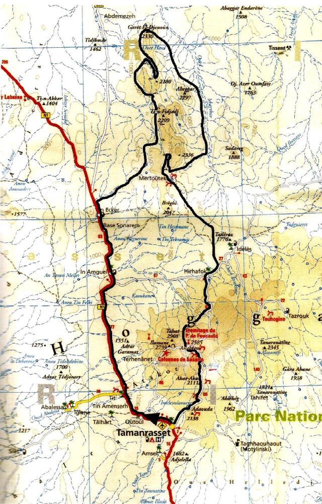mapa tefedest