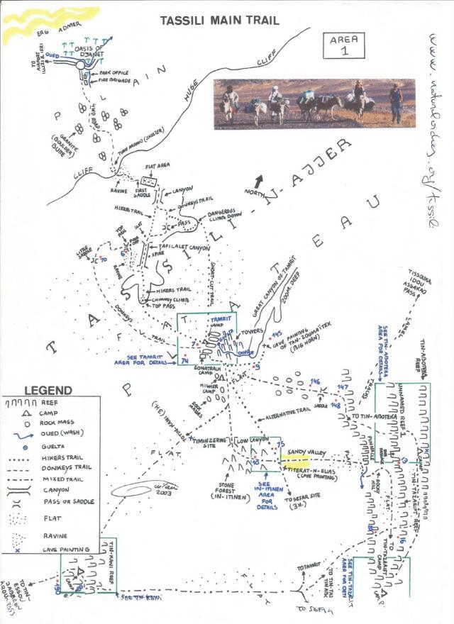 Tassili, mapa 1