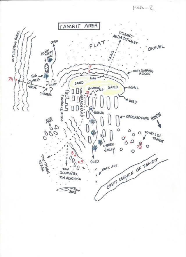 Tassili, mapa 2