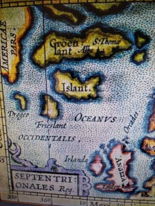 ballenas mapa antiguo atlántico norte