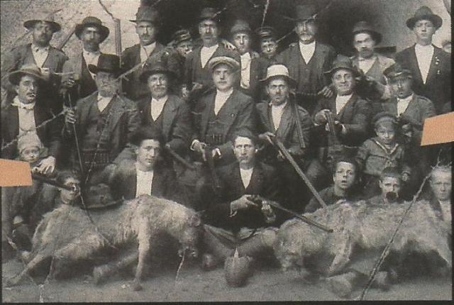 lobo caceria abruzzos 1900