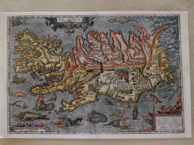 Ballenas mapa Islandia