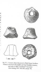 soplado cerámicas para insuflar de Wadi Hawar (Sudán) del neolí0007