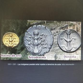 Silfio en varios dracmas