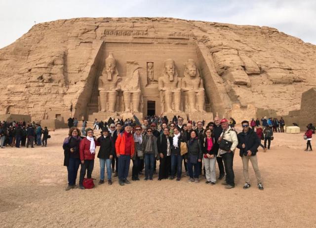 egipto,. grupo en abu simbel