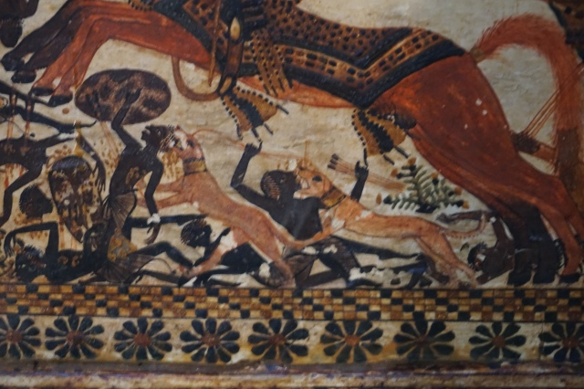egipto. la caja pintada de tutankamon