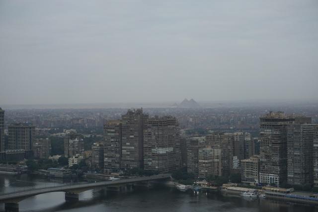 egipto. las pirámides desde el hotel