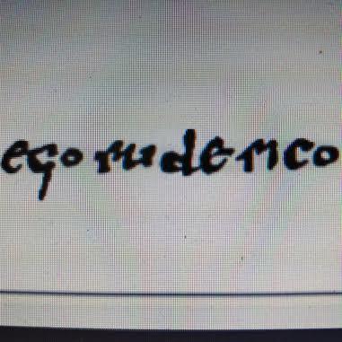 autógrafo del Cid en diploma de dotación de Valencia