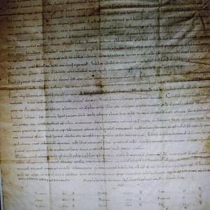 Diploma de dotación a la catedral de Valencia