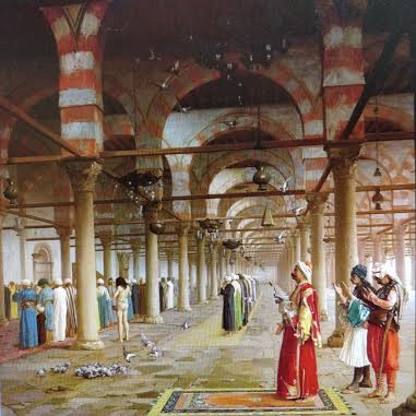 rezo en la mezquita de Córdoba