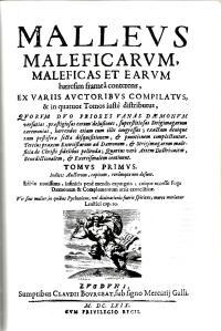 brujería. el Malleus Maleficarum