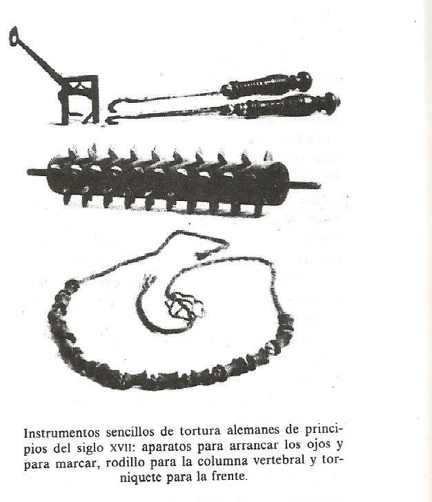 brujería. instrumentos de tortura