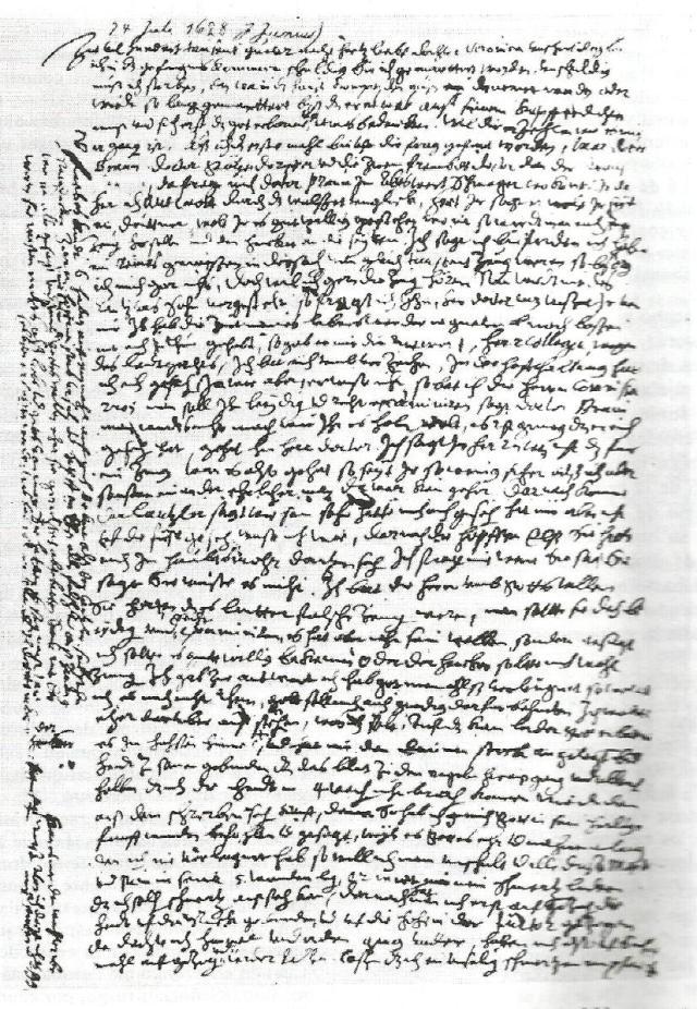 brujería. carta de Johannes Junius