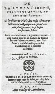 brujería. tratado de licantropia de Jean de Nyault